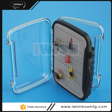 Easy Grip ABS Plastic Clear Lid 2 Sided Saltwater Waterproof Fly Box With Reinforced Latch