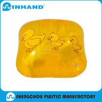 2016 factory sale EN71/ASTM approved yellow pvc transparent inflatable bath pillow