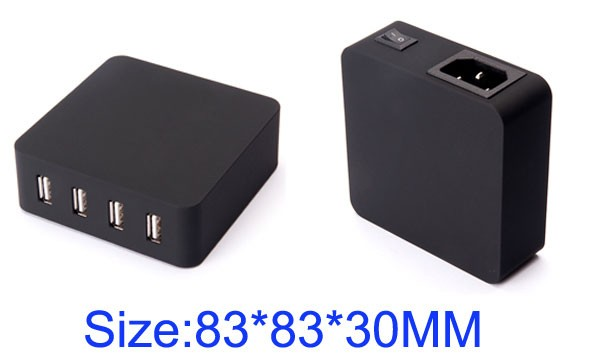 Mobile phone portable mini universal travel adapter with usb port