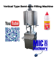 Filling volume adujustable Micmachinery manual glue bottle filling machine price for pva glue pvc glue