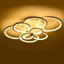 Best selling modern creative 10 circles fancy lamp led ceiling lights for living room