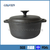 Oval shaped vegetable oil coating cast iron cooking pot
