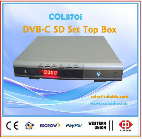 COL370i digital cable tv receiver decoder, mpeg2 video decoder set top box