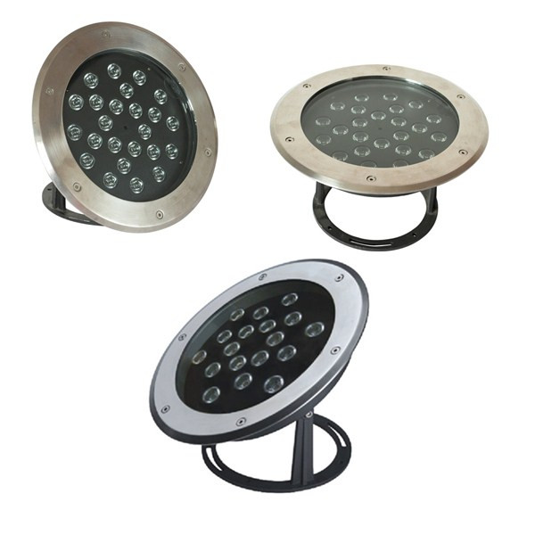 72W ip68 waterproof led stainless steel wall fountain light