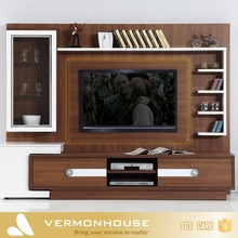 2018 Hangzhou Vermont Modern Style Led TV Stand Furniture Latest Lcd Wall Unit Designs