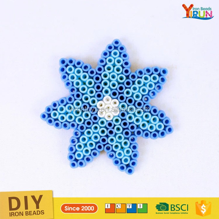 2017 Hot Sale 5mm plastic hama beads handmade diy kits iron beads hama