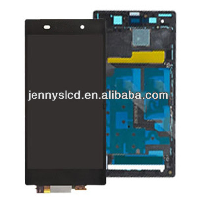 Original for Sony xperia Z1 L39H LCD digitizer with frame black