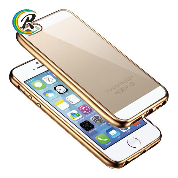 Top quality bulk case for iphone 5 for iPhone5 transparent phone case plating bumper