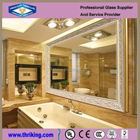 clear/colored bright Silver Mirror glass sheet bath mirror with CE & ISO Certificates