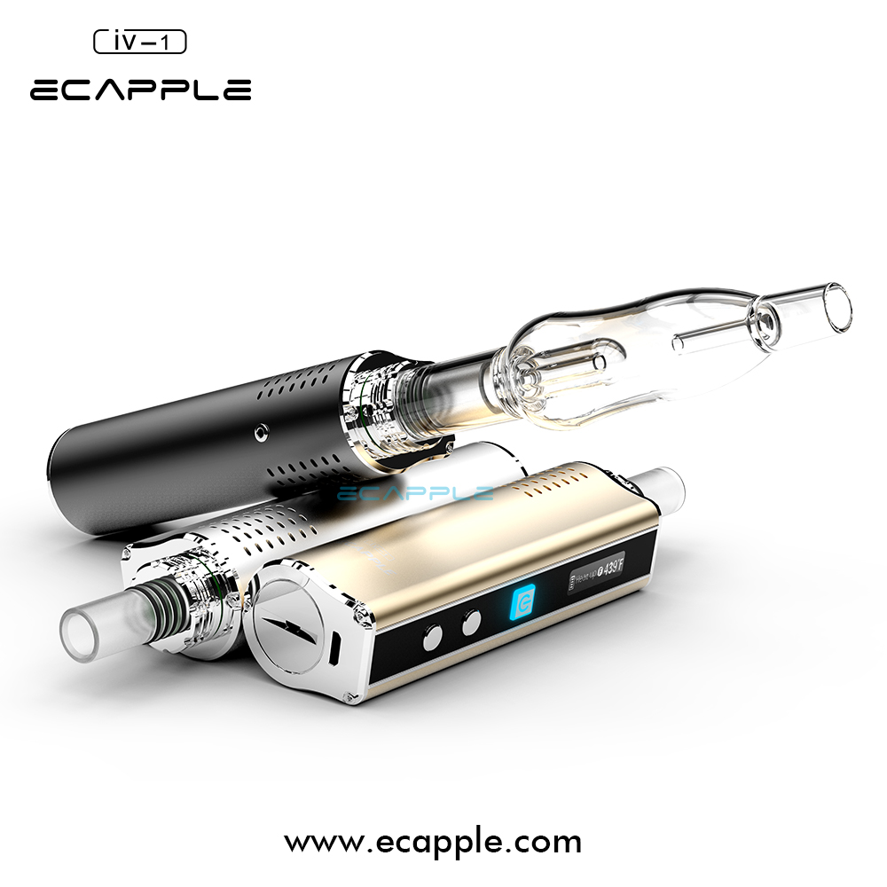cheap wholesale Ecapple vaporizer smoking japan electronics IV-1 with glass water bubbler