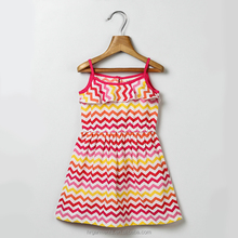 wholesale spaghrtti straps dress children boutique design simple frock for girl