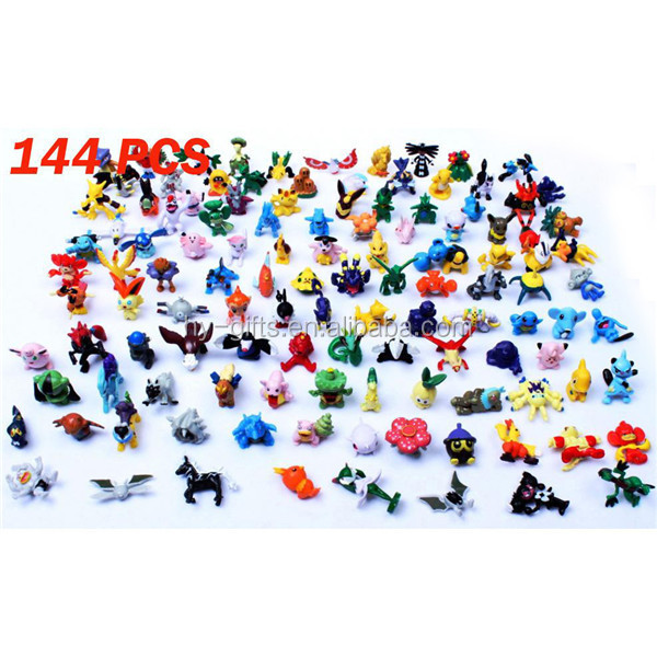144pcs pokemon monster figure pokemon toys small wholesale pokemon
