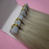 2015 hot selling virgin remy full ends straight blue tape wholesale tape hair extensions, ash blonde tape in hair extensions
