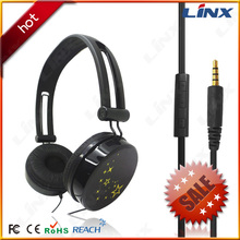 china factory fashion folding stereo headphone with volume