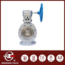 BW oil gas closure butterfly valve cast iron wheels
