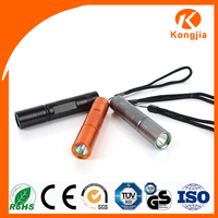 Ultra Bright Rechargeable 3W Aluminum Alloy Mini Pocket Gift Fast Track Flashlight