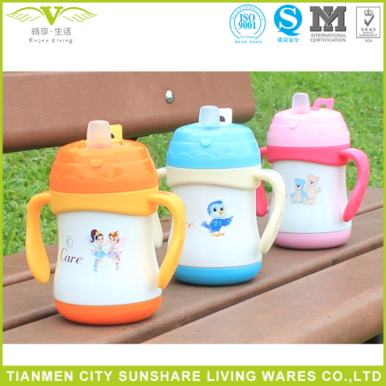 Thermal Insulation Vaccum Kids Water Bottles With Handles