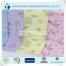 "Trade Assurance supplier Algodon cotton molton flannel fabric 120gsm 43/44"" printed design for linens"