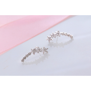 Dropshipping Wholesale Star Ear Cuff - 925 Sterling Silver - Gold, Rose Gold, Silver Plated Color AAA zircon Fashion Jewelry