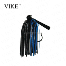 wholesale round head type jig head with rubber skirt fishing lure