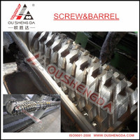 120mm bimetallic single screw and barrel for HDPE LDPE granules/pelletizing/masterbatch