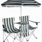 Kids Double Beach Chair with Umbrella