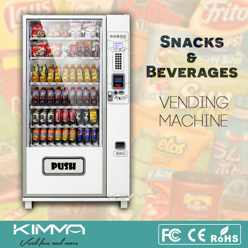 Vending Machine Coin Mechanism with Chilling System for Cold Drink and Snack, Best Condition, KVM-G654