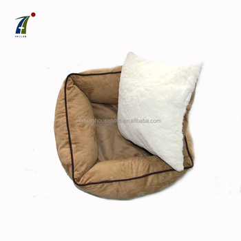 High Quality fleece pet bed house sleeping cushion