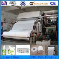Fully atomatic tissue paper machine used tissue paper making machine raw material :waste paper,virgin pulp,bagasse,hemp,staw