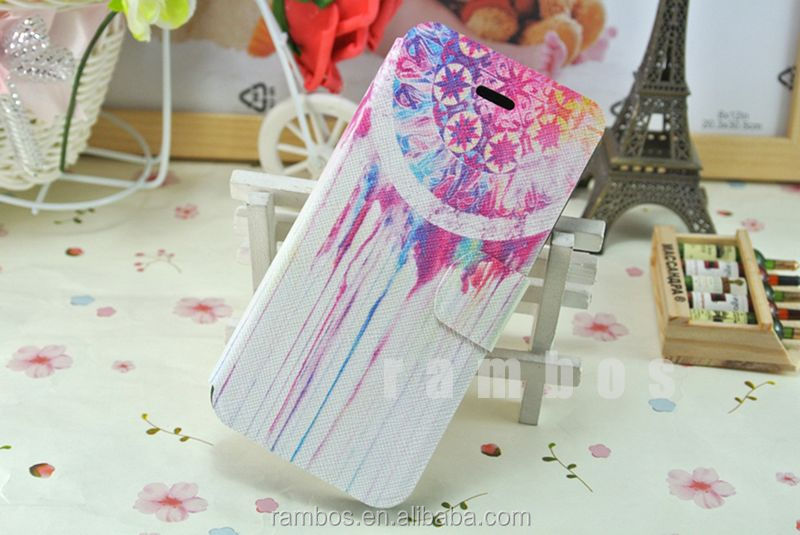 Pu leather tribal style case cute cartoon protective phone flip cover for iPhone 5 5s