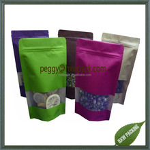 China wholesale plastic ziplock standup doypack pouch for herb tea packaging