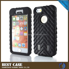 3 in 1 hard pc+soft silicone cell phone case for apple iphone 5 new cover