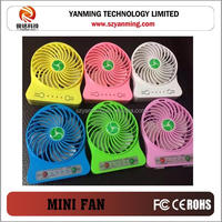 Unique new design portable usb fan rechargeable mini usb fan led light usb mini fan with power bank Powerful wind