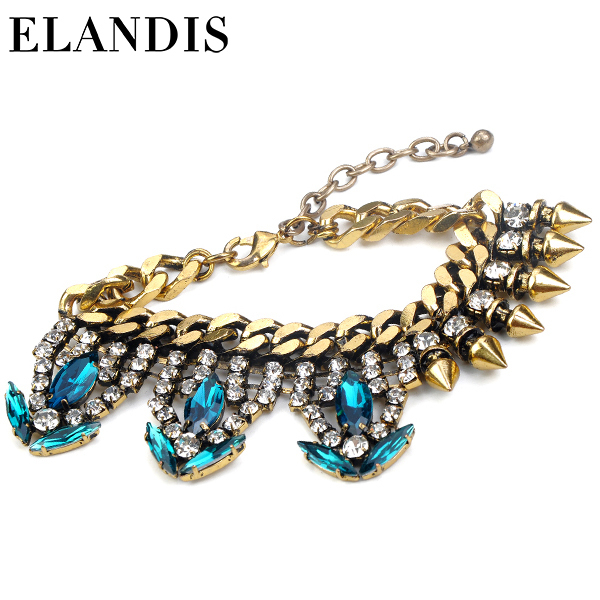 E-ELANDIS new product chain diamond necklace short necklace pendant bracelet