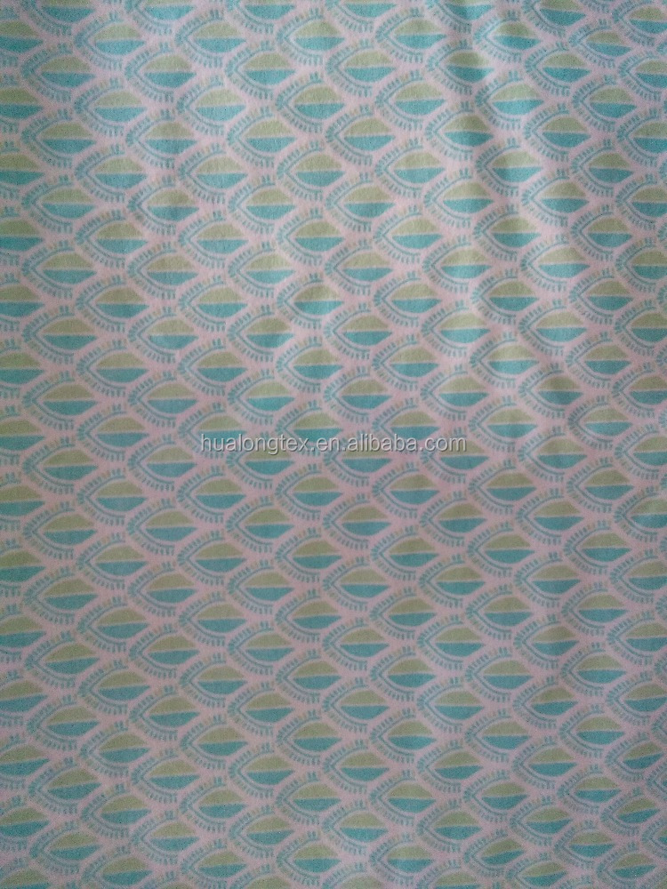 100 cotton brushed pigment print fabric