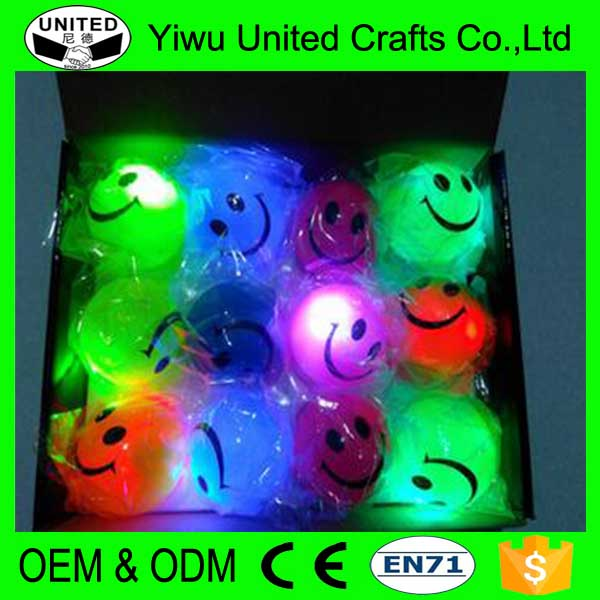 Customized Logo colorful led hi bouncing soft rubber Ball