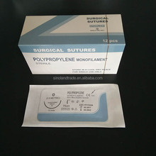 Medical sterile surgical suture thread with needle