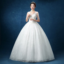 ZH1733D half sleeve beaded puffy bridal ball gown embroidery white chic wedding dress