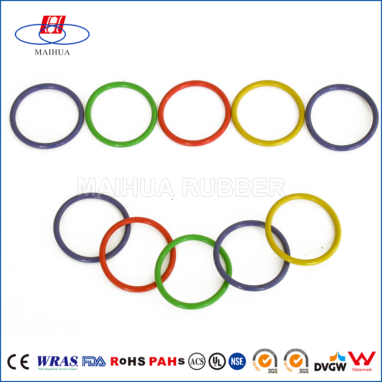 NBR EPDM SILICONE VITON SBR NR different color waterproof rubber o ring
