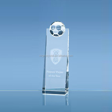 Optical Crystal Soccer Design Sports Tower Award Football Trophy