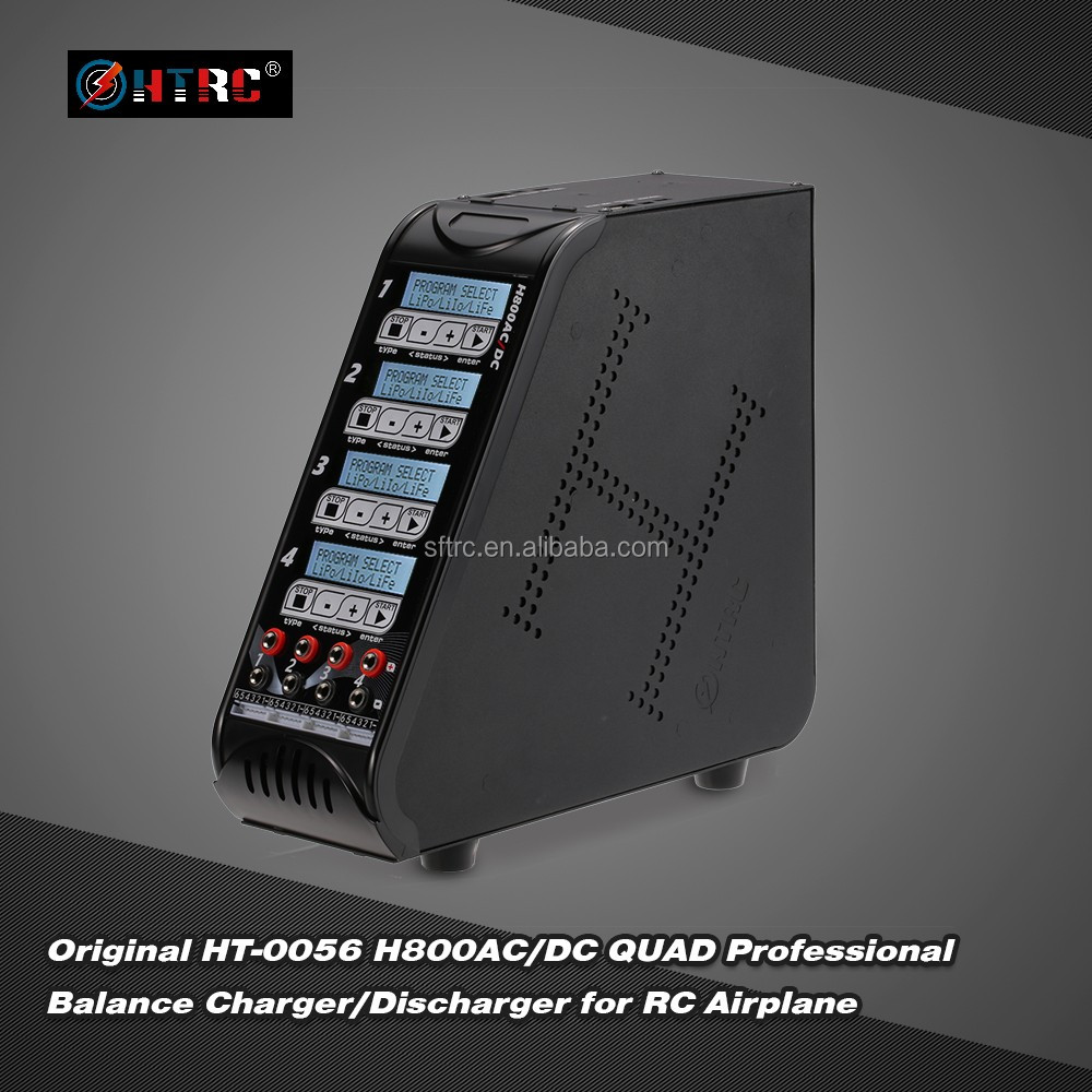 Original HTRC H800AC/DC QUAD 800W Professional Balance Charger / Discharger for RC Helicopter Airplane DJI Inspire
