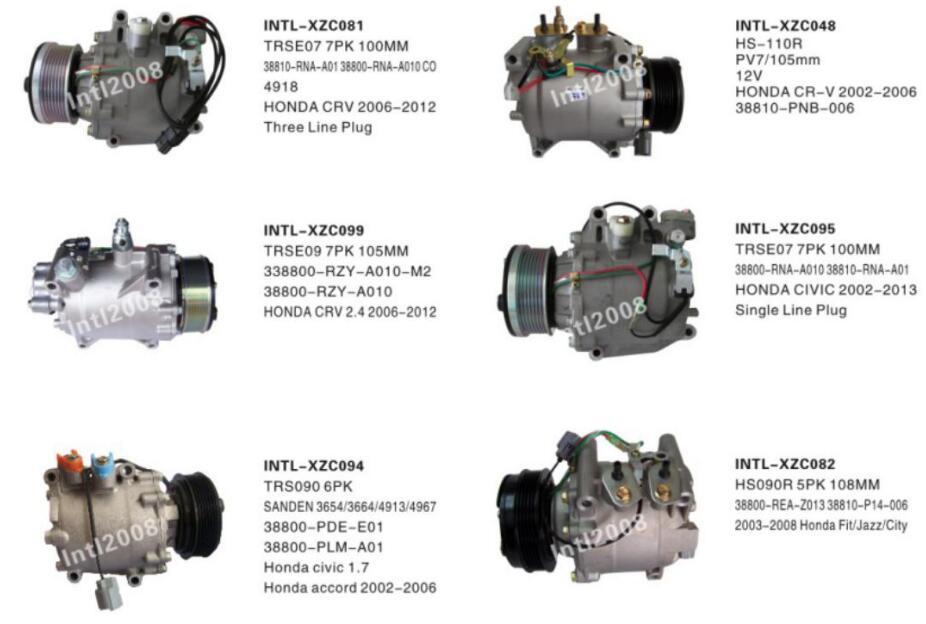 SANDEN 3624 3626 CO 3626AC TRSA09 TRS090 A//C compressor for Honda Jazz Fit City