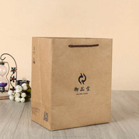 Custom brown kraft paper gift bag for promotion
