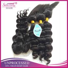 2017 new trendy products loose weave sewing machine weft braid in hair bundles with closure