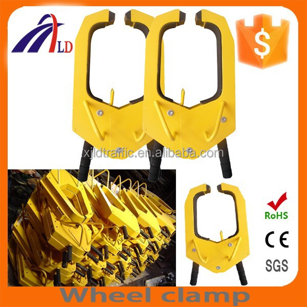 "WC-04B High quality ""U"" wheel clamp for car parking"