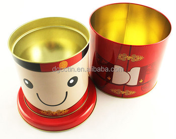 Full color food grade wholesale hot sale Christmas Snowman candy tin box in stock gift box for kids