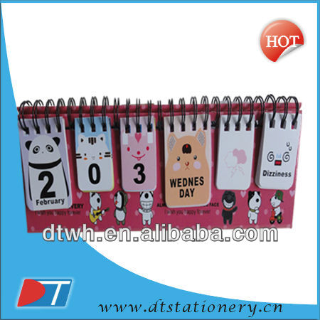 cheap calendars /2014 new design,desk calendar/yearly desk calendar
