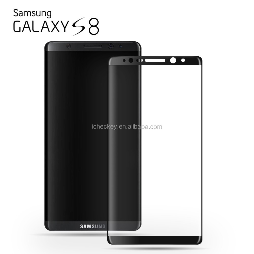 New arrival 3D curved full cover 9H Tempered Glass screen protector for Samsung galaxy S8 / S8 Plus