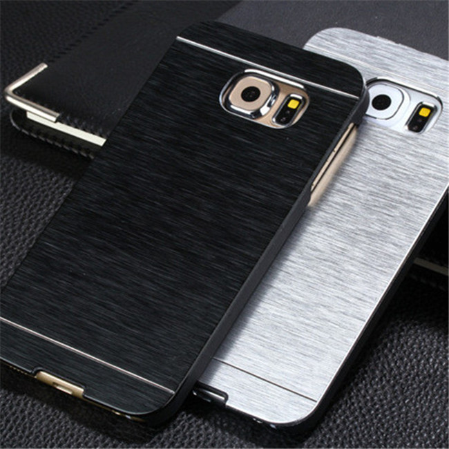 Luxury Metal Drawing PC Material Hard Mobile Phone Case Cover for Samsung Galaxy A7/A9/A9 Pro