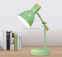 decorative wooden base hotel study vintage desk lamp